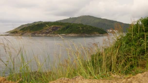 panorama of hills at Phuket island bay