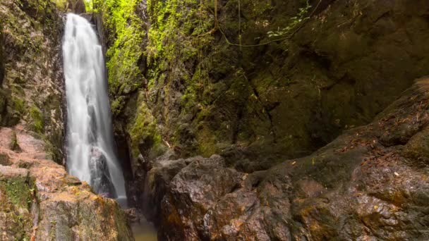 mountain waterfall in the tropical forest