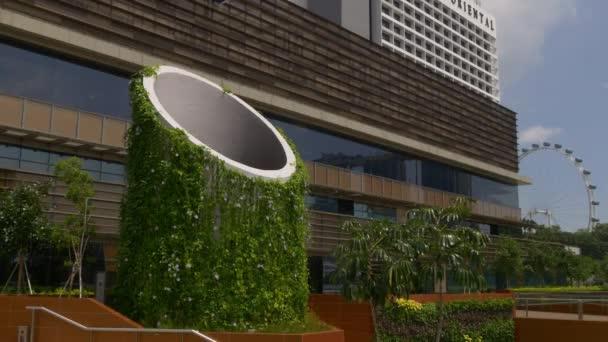 Día De Plaza Sol Marina Terraza Folleto Panorama Singapur Vídeo De