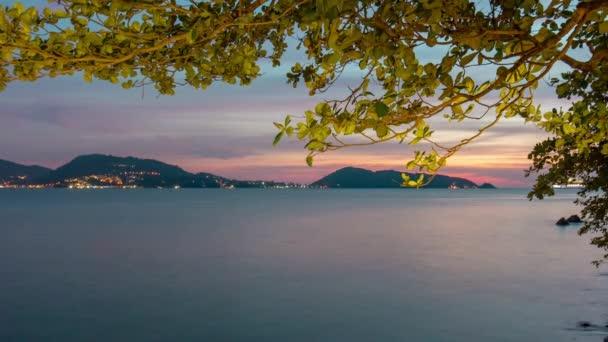 patong beach sunset cruise liner park bay panorama 4k time lapse phuket thailand