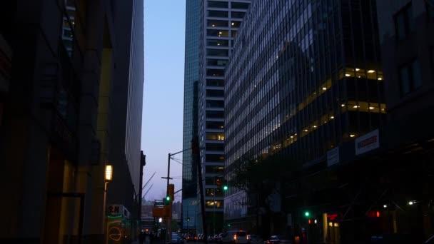 paesaggio urbano di uptown Manhattan alla notte