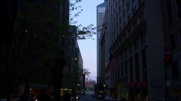 z centra panorama Manhattanu v noci