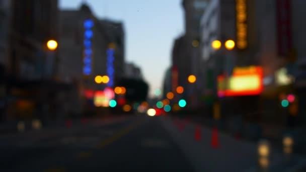 paesaggio urbano di uptown Manhattan alla sera
