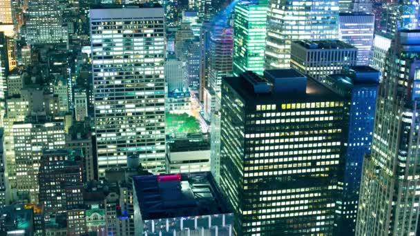Noční světlo Manhattan kanceláře