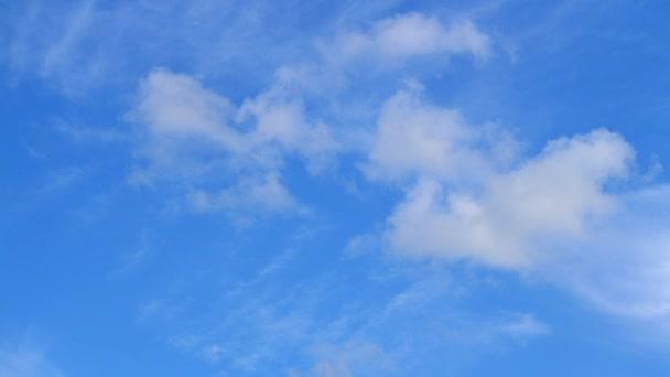 flauschig weißer Himmel läuft