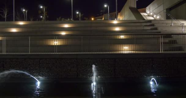 Noční světlo muzeum fontána