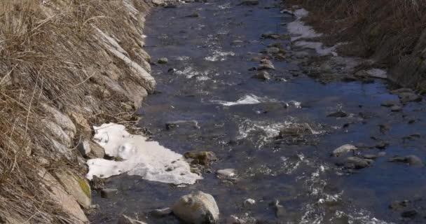 Zasněžené horské řeky