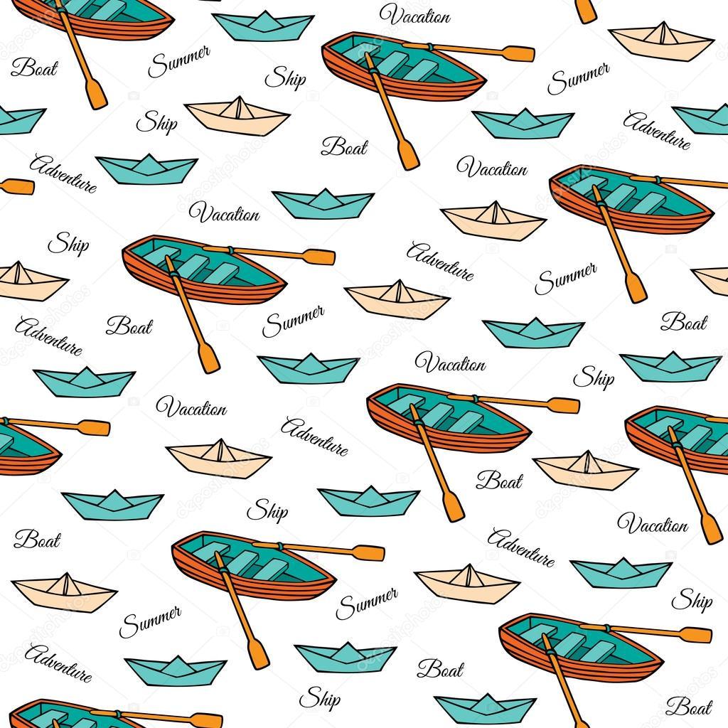 Patrón sin fisuras de los barcos — Vector de stock © EvgeniaVV ...