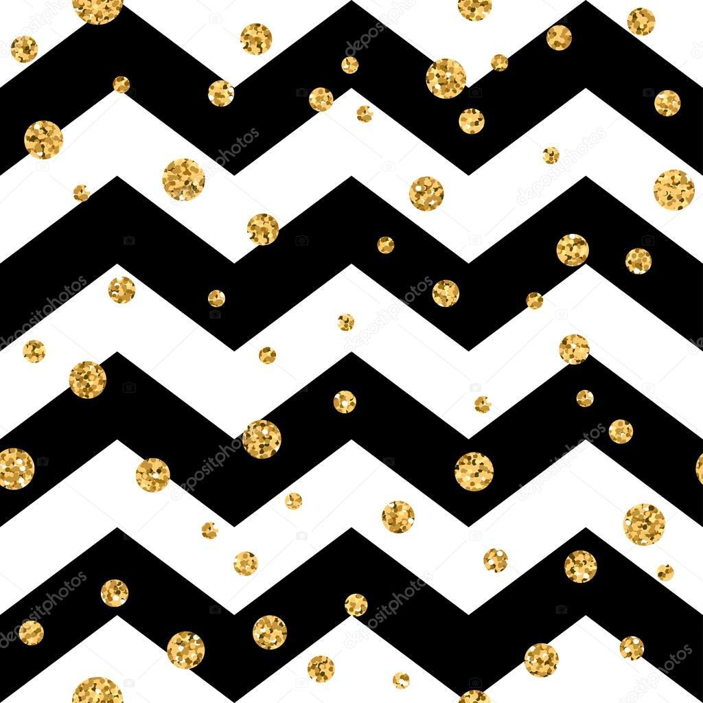 Golden Polka Dot Seamless Pattern Gold Confetti Glitter