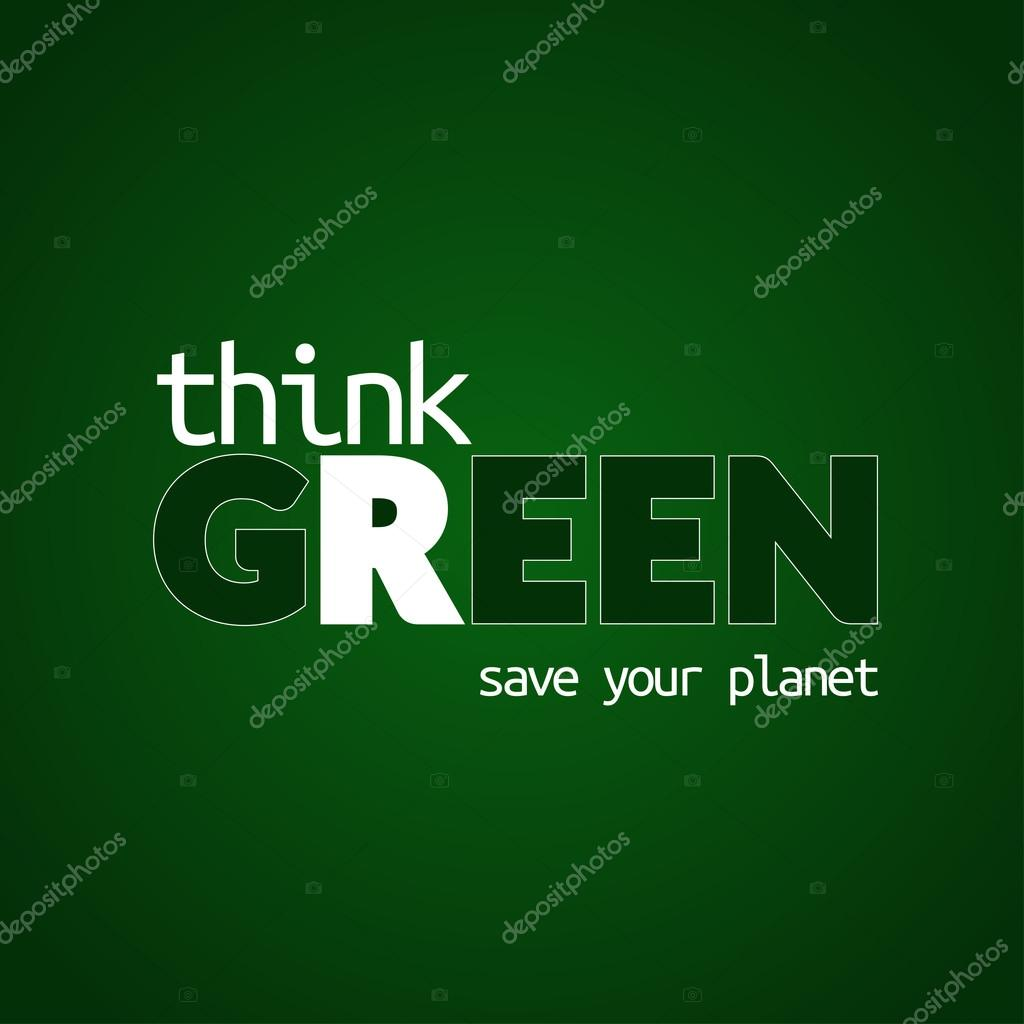 Think green background 1