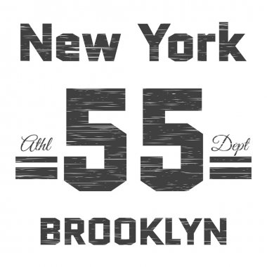 T shirt typography graphic New York Brooklyn Athletic department