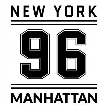 T shirt typography graphic New York city Manhattan