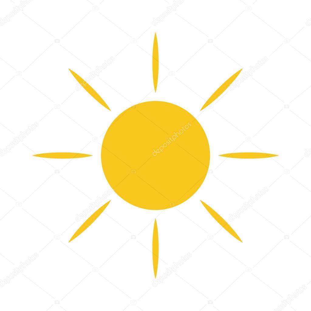 Symbol Licht Zeichen Sonnengelb Stockvektor Alonas 108100704