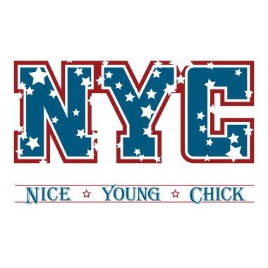 T shirt typography graphic New York chic
