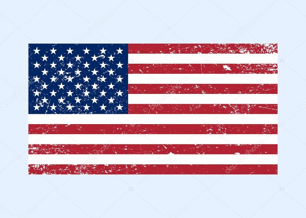 Usa Flag Color Grunge Stock Vector Alonas 112859132