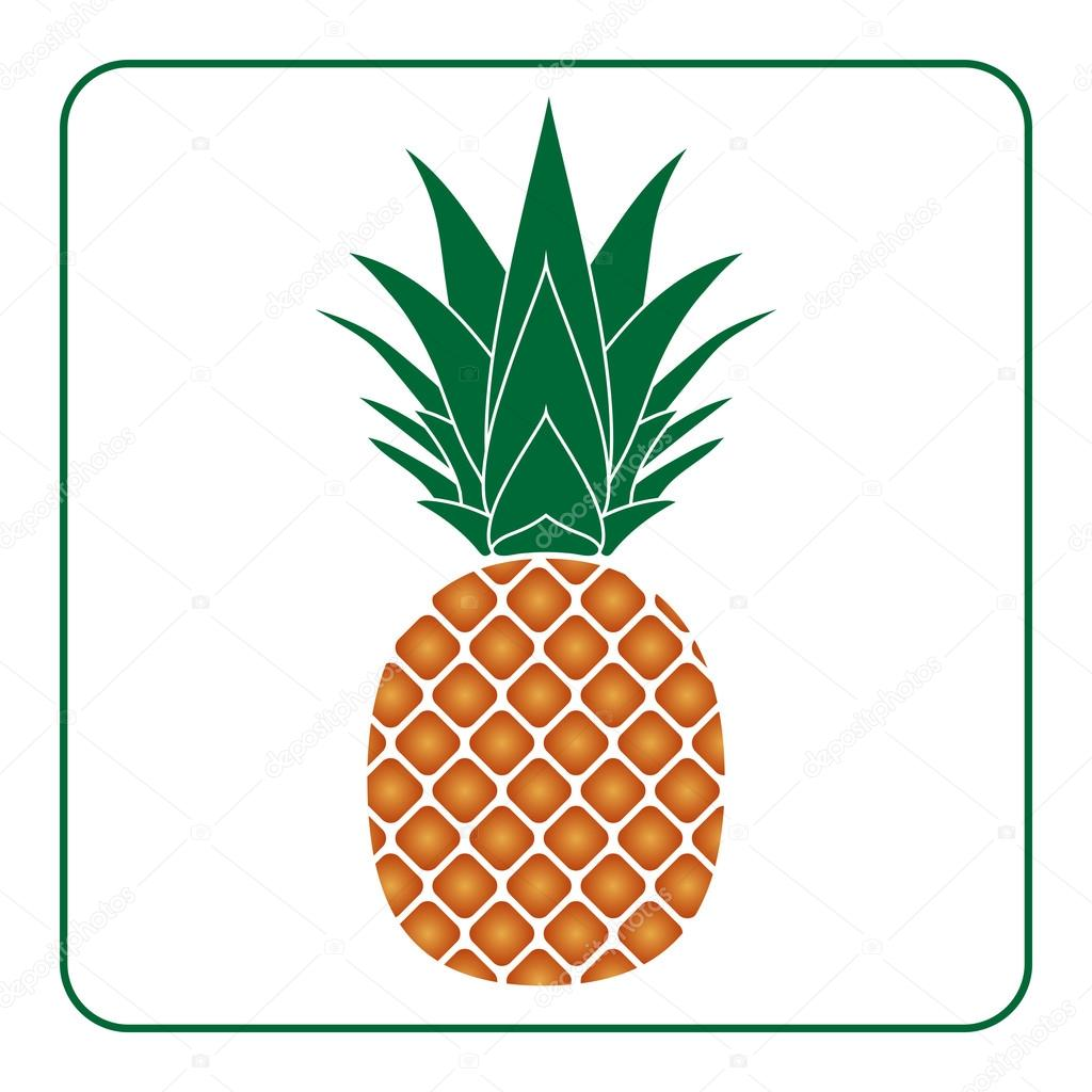 Uncategorized Pineapple Picture To Color pineapple with leaf icon color tropical fruit stock vector 112859514