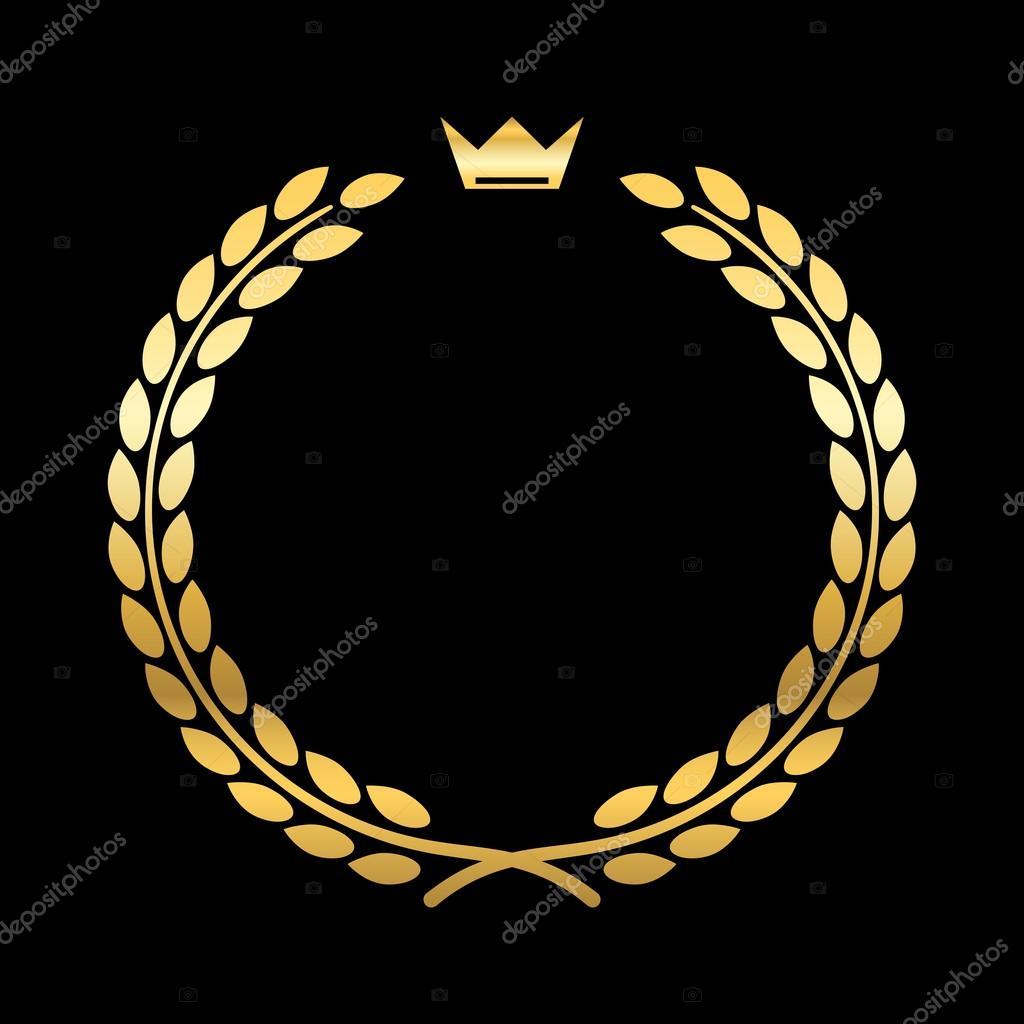 Zlatý vavřínový věnec koruny list — Stock Vektor © Alona S  113734170 2f0fc67351
