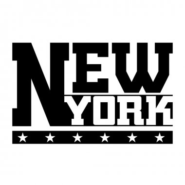 T shirt typography graphics New York