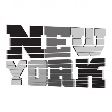 T shirt New York black gray white