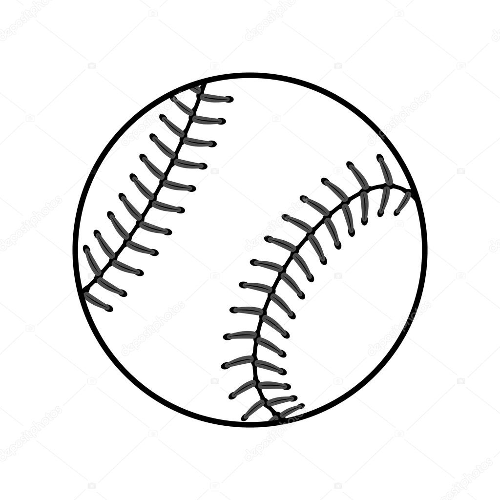 baseball ball sign black stock vector alona s 115264306 rh depositphotos com Baseball T-Shirt Designs Baseball Graphic Design