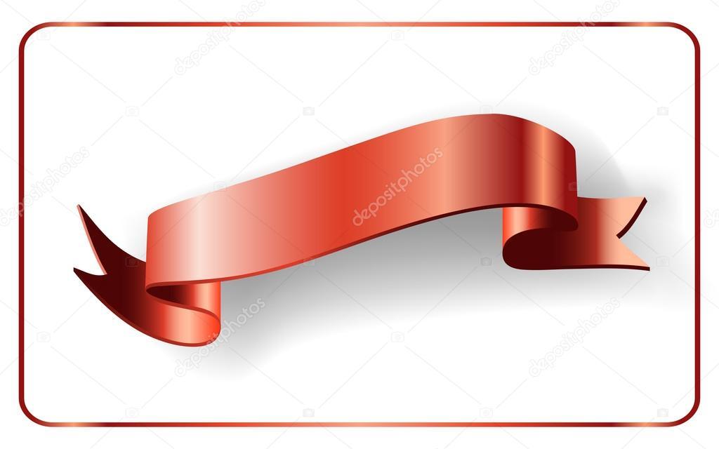 Liston Blanco Vector Png: Listón Rojo Satinado Arco En Blanco