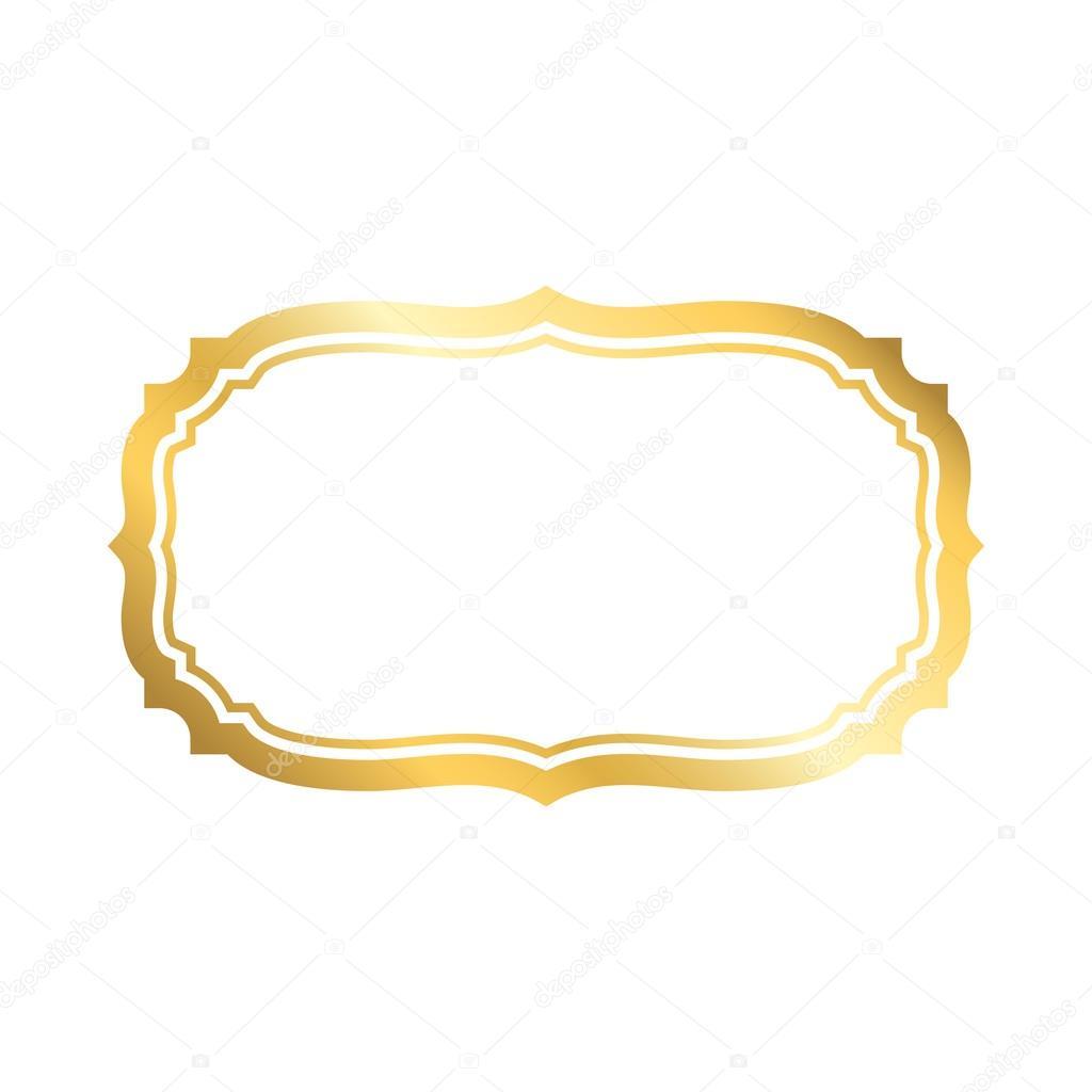 Gold Frame Simple White Golden Stockvektor Alonas 122239586