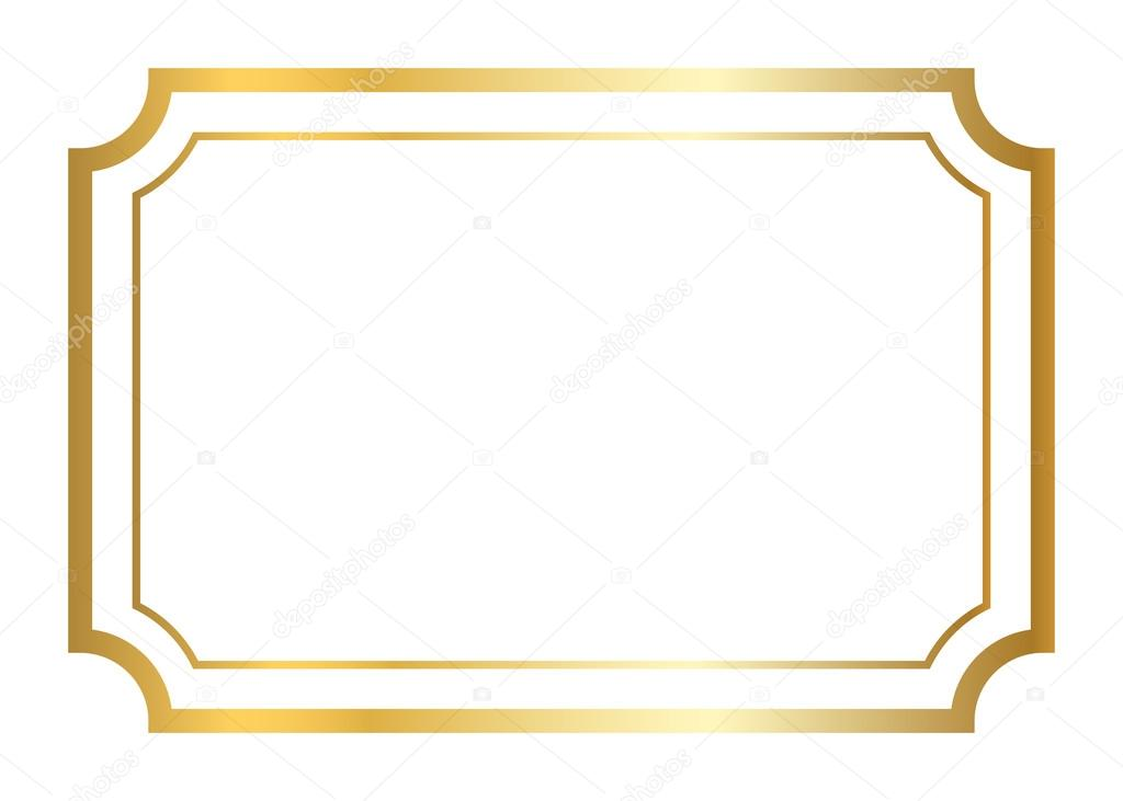 Gold frame golden white — Stockvektor © Alona_S #123047578