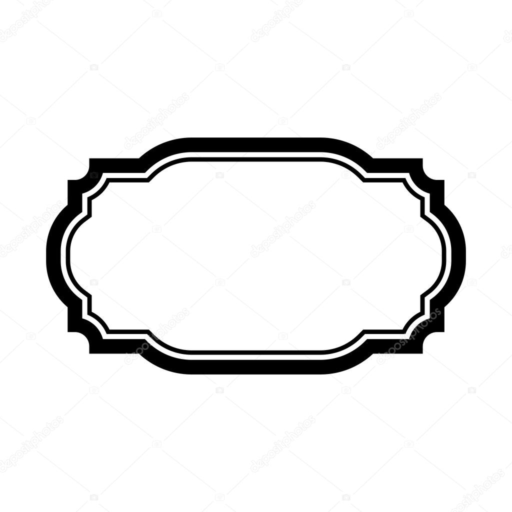 Black Frame For Picture Beautiful Simple Design Vintage Style Decorative Border Isolated On White Background Deco Elegant Art Object