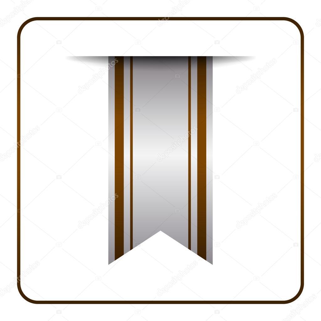 Braune Lesezeichen Banner symbol — Stockvektor © Alona_S #123872182