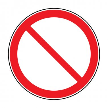 sign no crossing