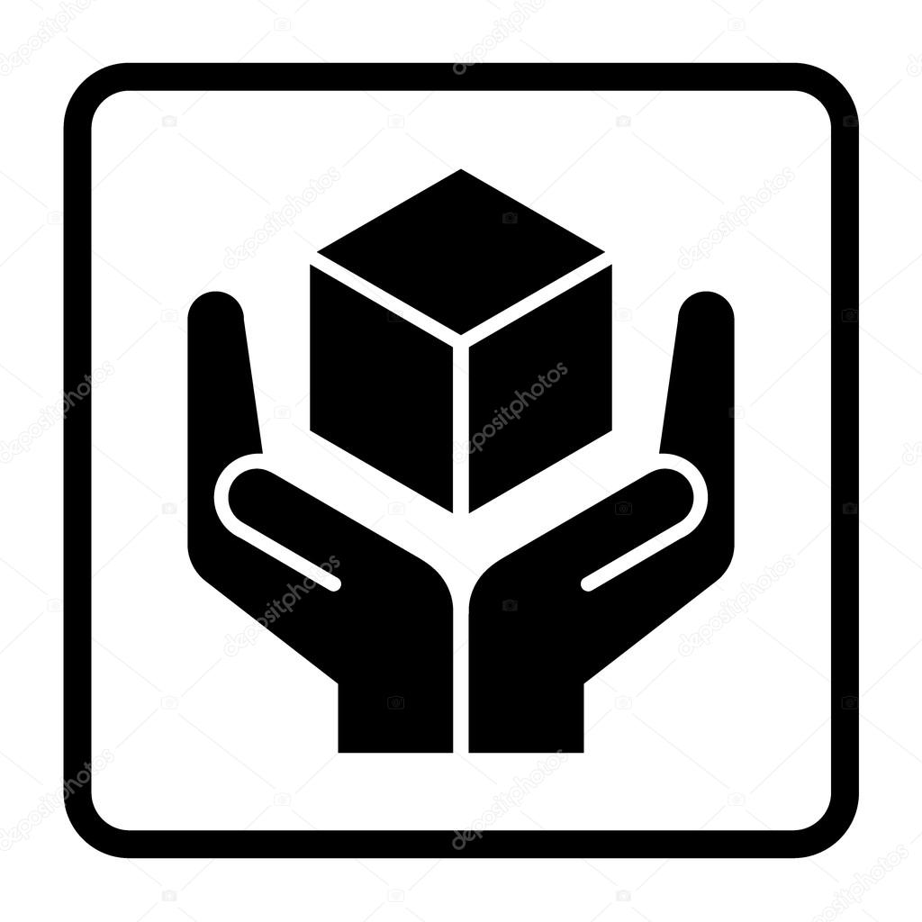 Handle with care stock vector alonas 88467802 handle with care sign in a black square fragile or packaging symbol fragile cardboard black icon isolated on a white background buycottarizona