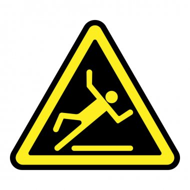 slippery yellow sign