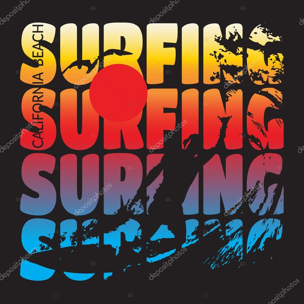 Surfing T Shirt Design Stock Vector Alonas 93497562