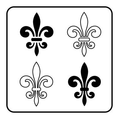fleur-de-lis black symbol