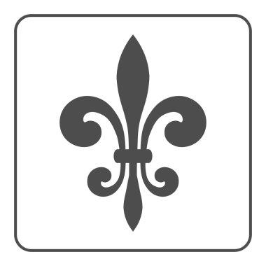 Fleur de lis emblem icon