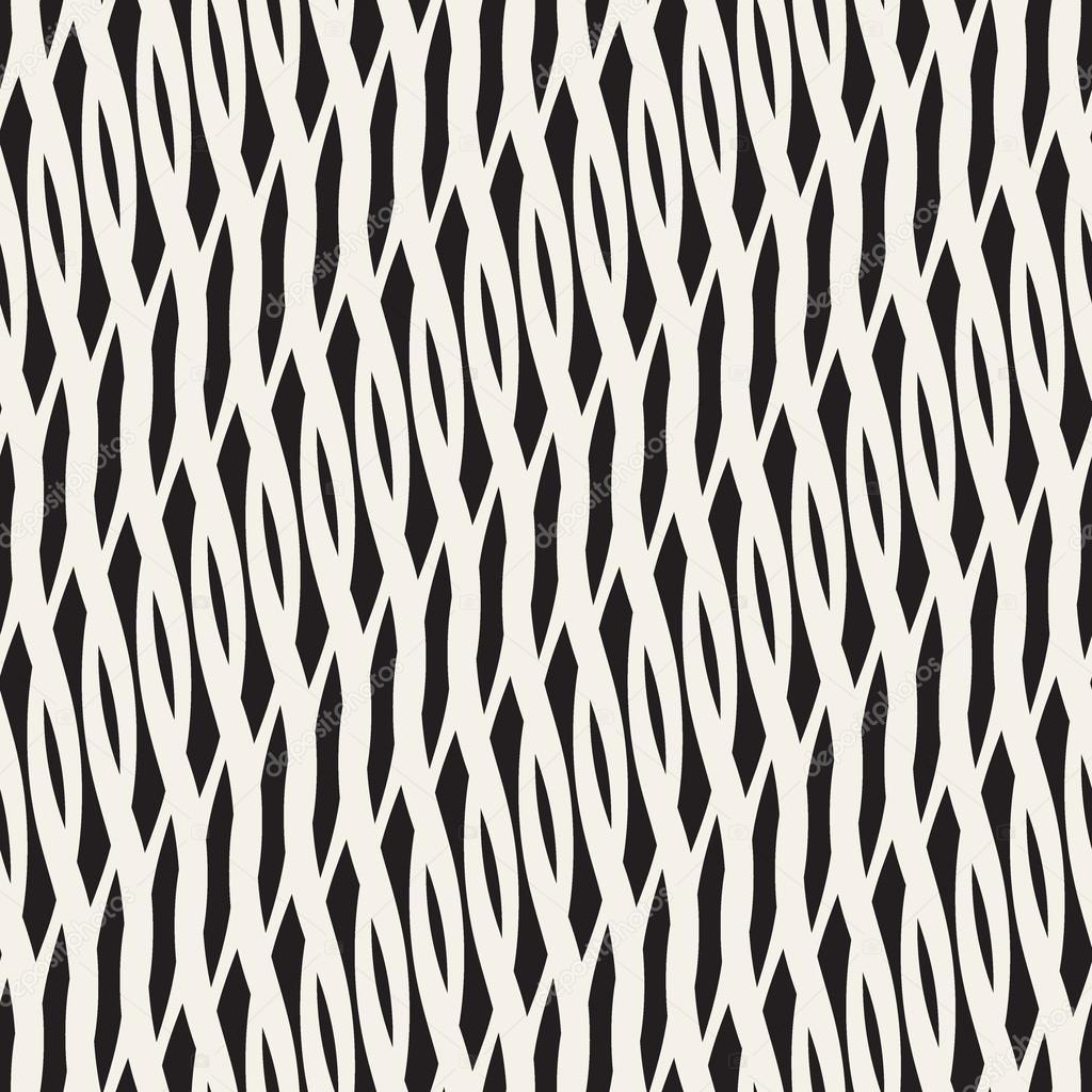abstrakte monochrome nahtlose Muster gekreuzt vawes — Stockvektor ...