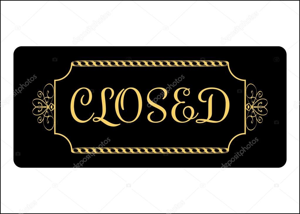 Closed Sign Effect Of Gold Stockvector Alonas 94587660