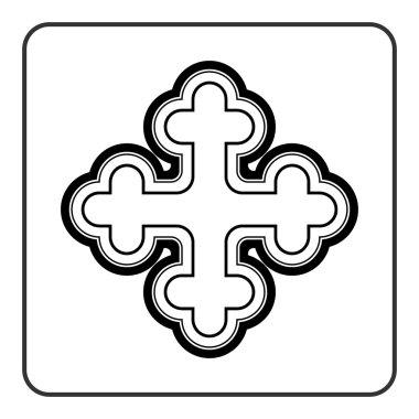 Cross icon on white background