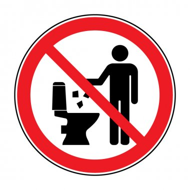 Do not litter in toilet icon 2