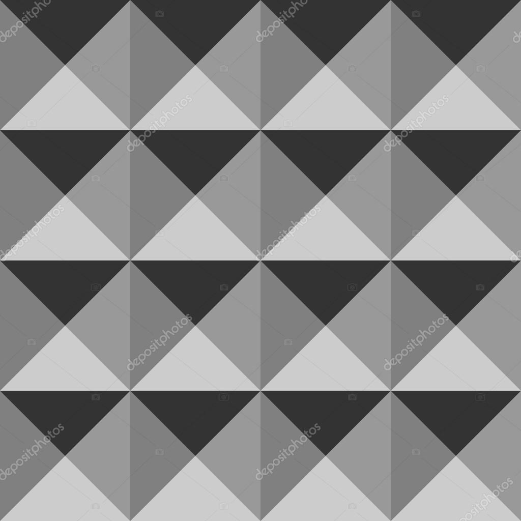 Seamless Geometric Abstract Pattern Triangle Volume Background Universal Backdrop For Wallpaper Monochrome Shades Of Grey Vector Il Ration