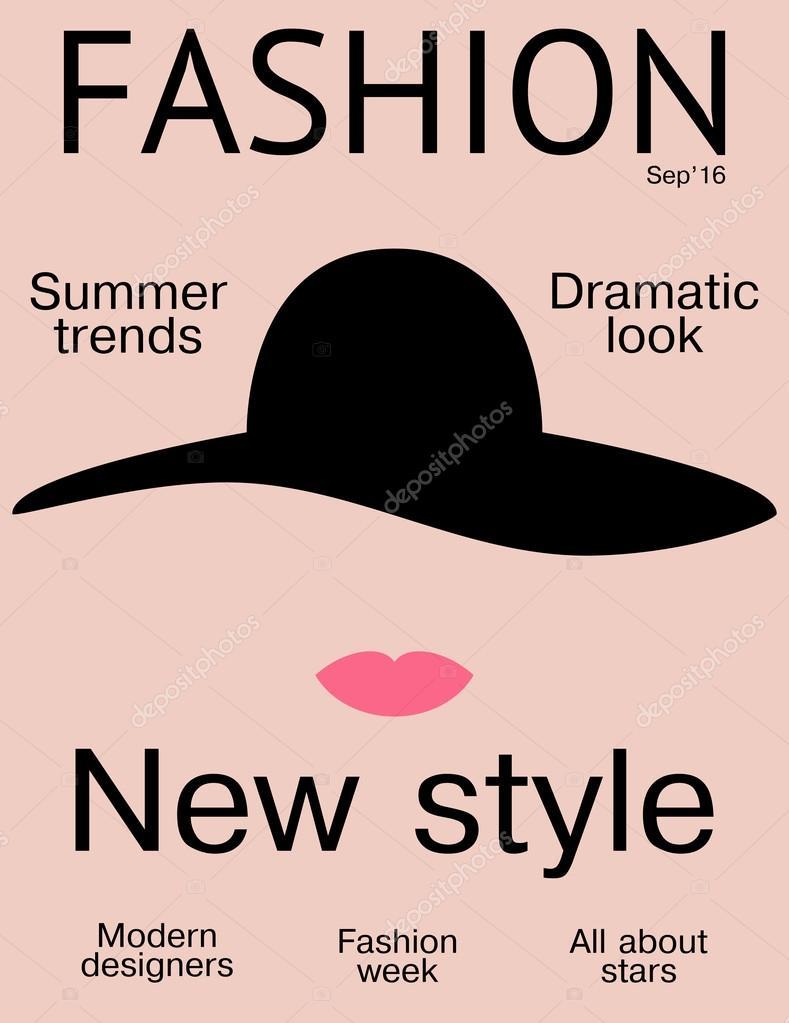 Portada de revista de moda plantilla de dise o simple y Revista fashion style magazine