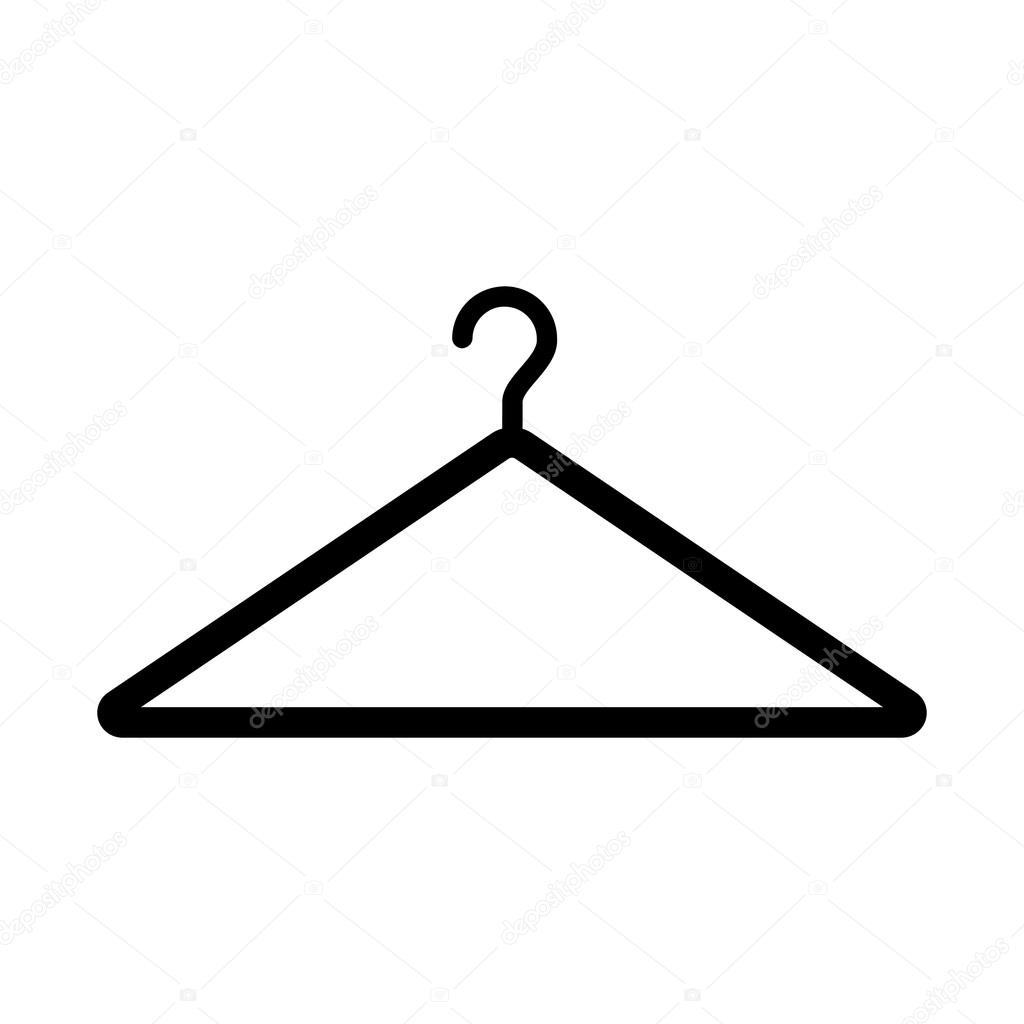 Clothes hanger icon simple and minimalistic clothes hanger clothes hanger icon simple and minimalistic clothes hanger symbol flat design style sign biocorpaavc