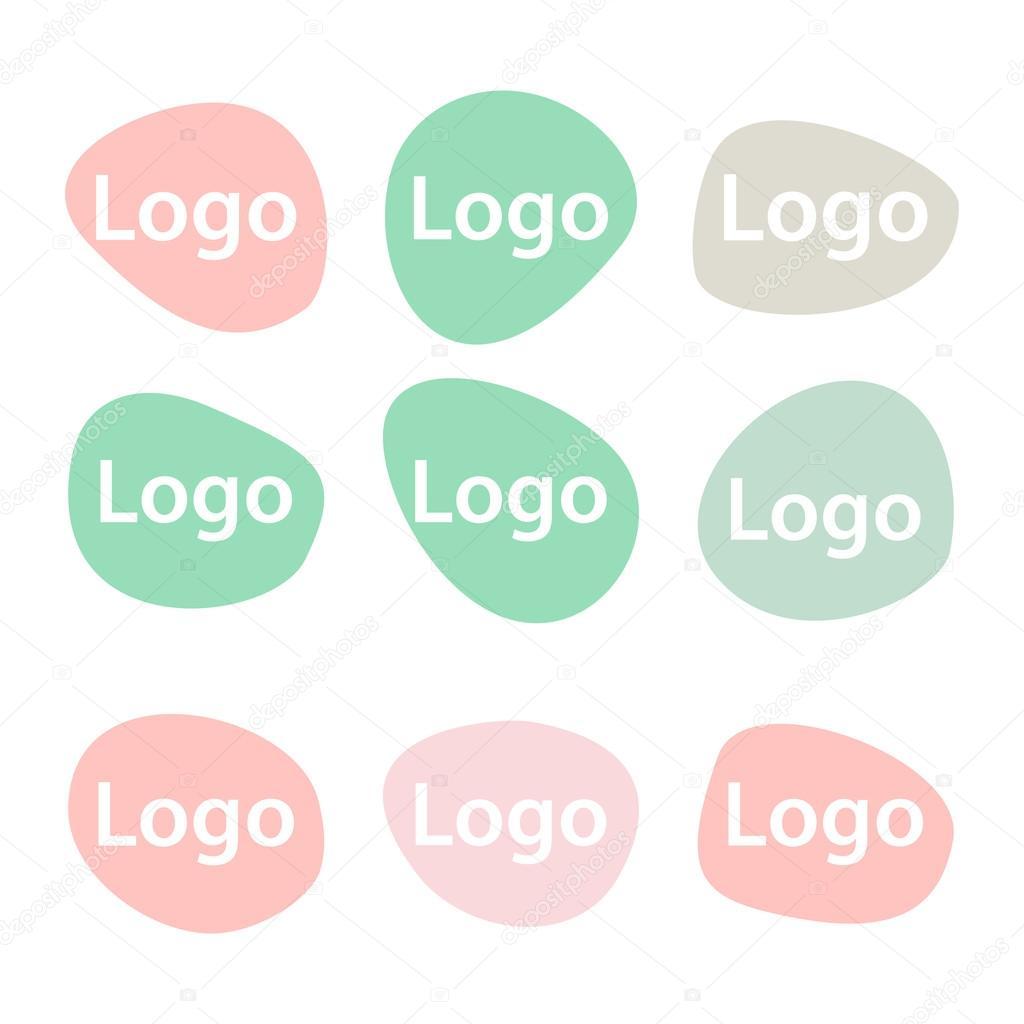 Abstrakte Logo-Design-Vorlagen. Pastell-Farben. Einfache und ...