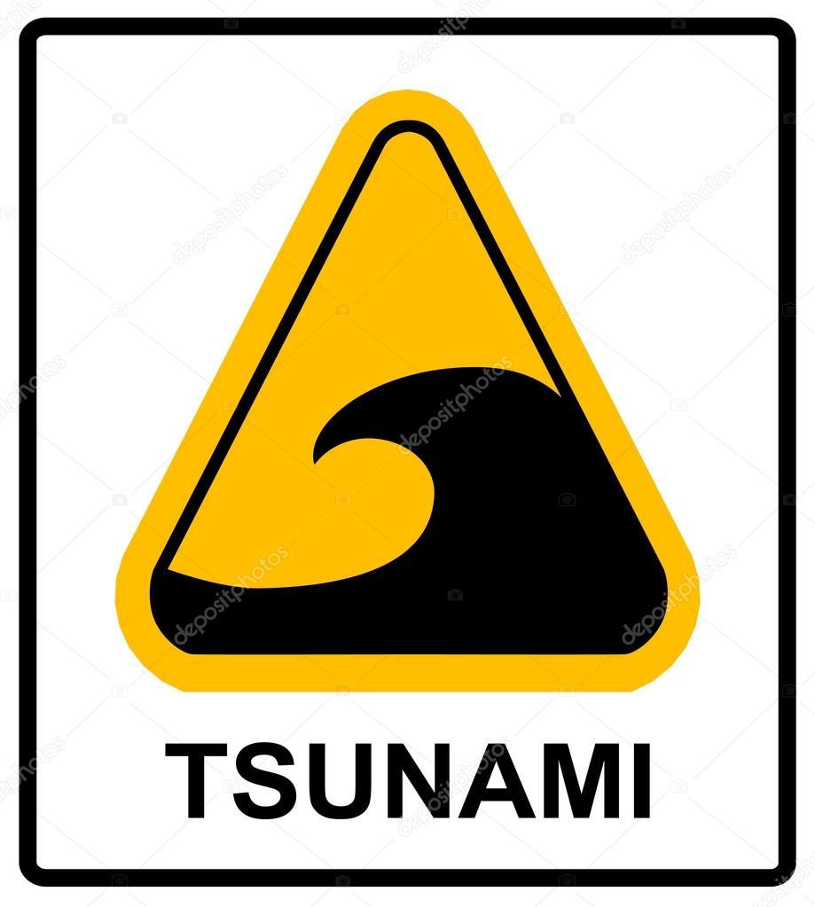 tsunami hazard sign stock vector merly69 123420092
