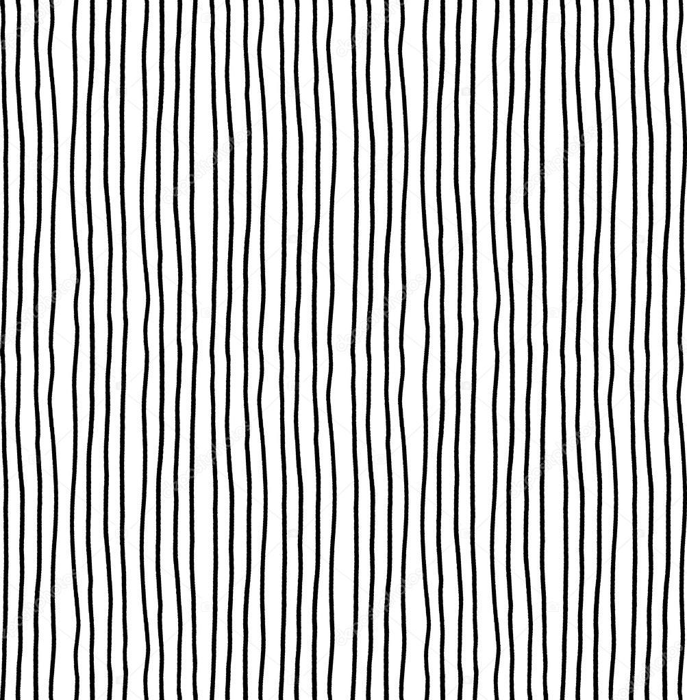 Line Texture Seamless : Hand drawn striped seamless pattern monochrome vertical