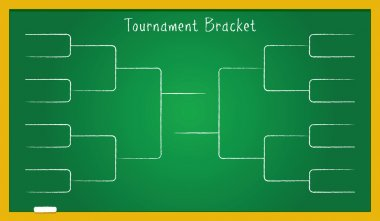 tournament bracket on school board