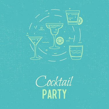 cocktail party glasses