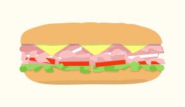 hoagie submarine sandwich