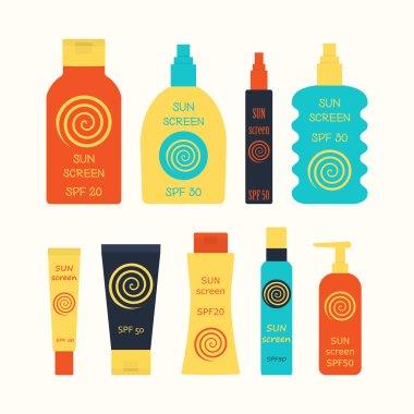 sunscreen bottle set