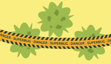 antibiotics bacteria superbug concept